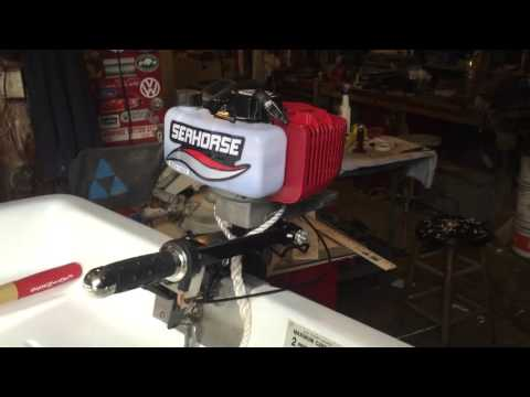 3 5hp air cooled Chinese outboard motor - YouTube