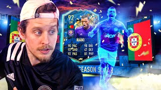 A LEGEND REBORN?! 92 TEAM OF THE SEASON NANI PLAYER REVIEW! FIFA 20 Ultimate Team
