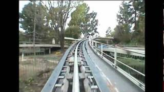 Rocket Rods Front Seat POV Disneyland Complete Ride-Through California Defunct Attraction
