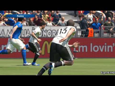UEFA Euro 2016 Germany vs Italy PES 2016 Game