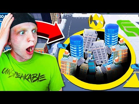 EATING THE WHOLE CITY! (HOLE.IO HIGHEST SCORE!)