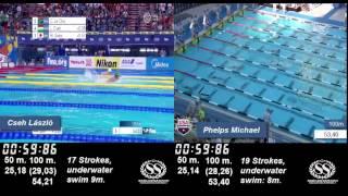 200m  Butterfly  Michael Phelps vs. Cseh Laszlo