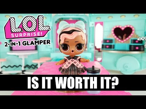 New LOL Surprise 2-in-1 Glamper Unboxing & Review   Is it Worth $100?   L.O.L. Glam Camper Van
