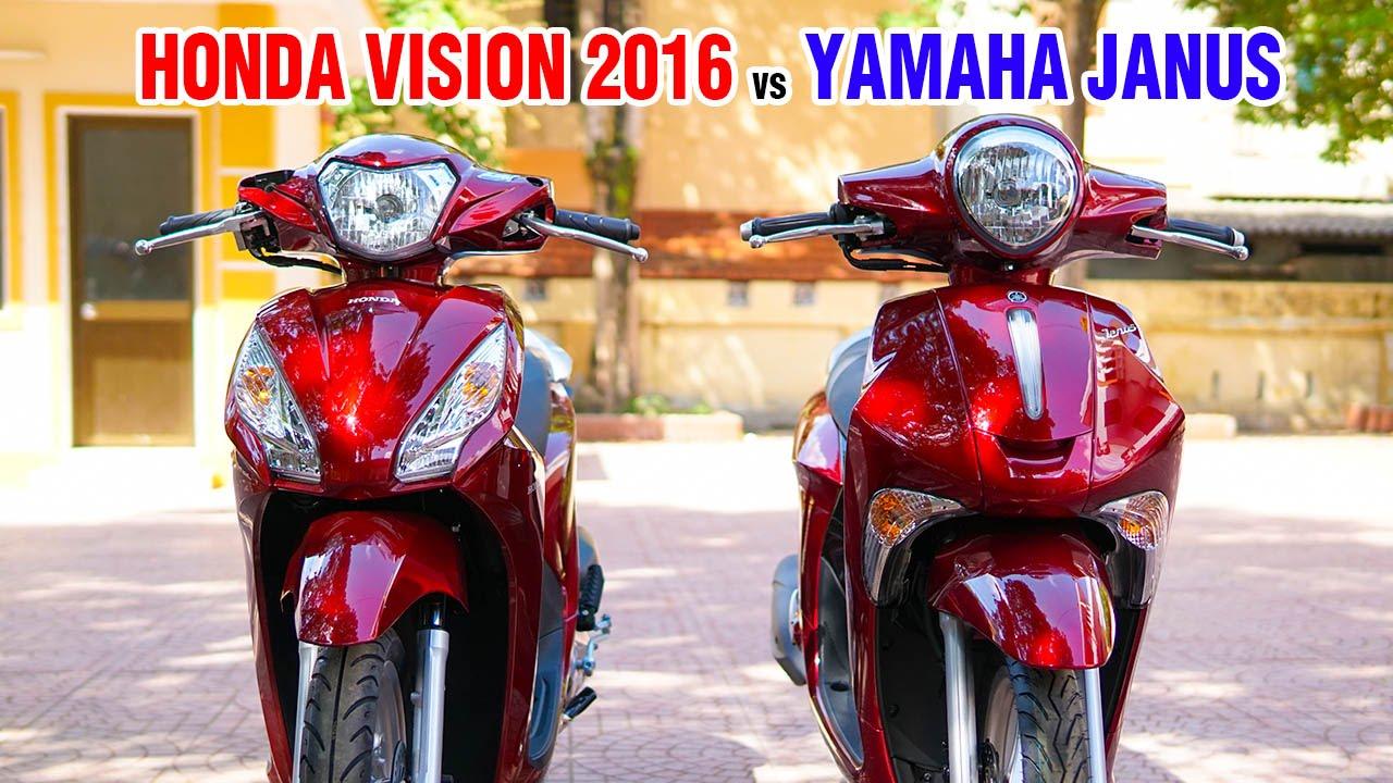 Honda Vision 2016 và Yamaha Janus ▶ Cuộc chiến Xe tay ga dành cho giới trẻ!