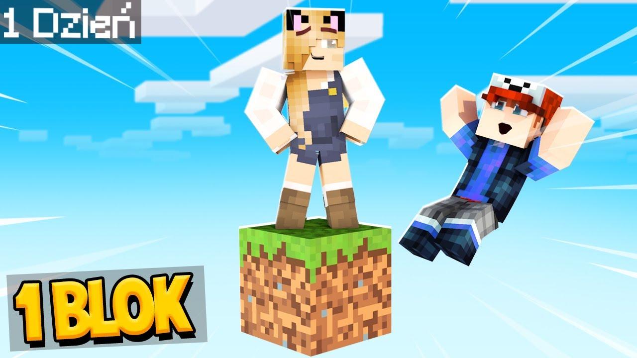 WRACAMY DO ŻYCIA NA JEDNYM BLOKU w Minecraft! | Vito i Bella