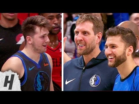 Luka Doncic IMPOSSIBLE Shot to Tie the Game   Mavericks vs Trail Blazers - December 23, 2018