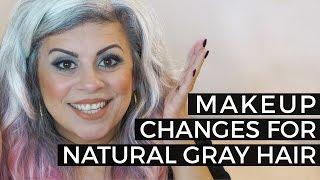 Natural Gray Hair and Makeup Changes