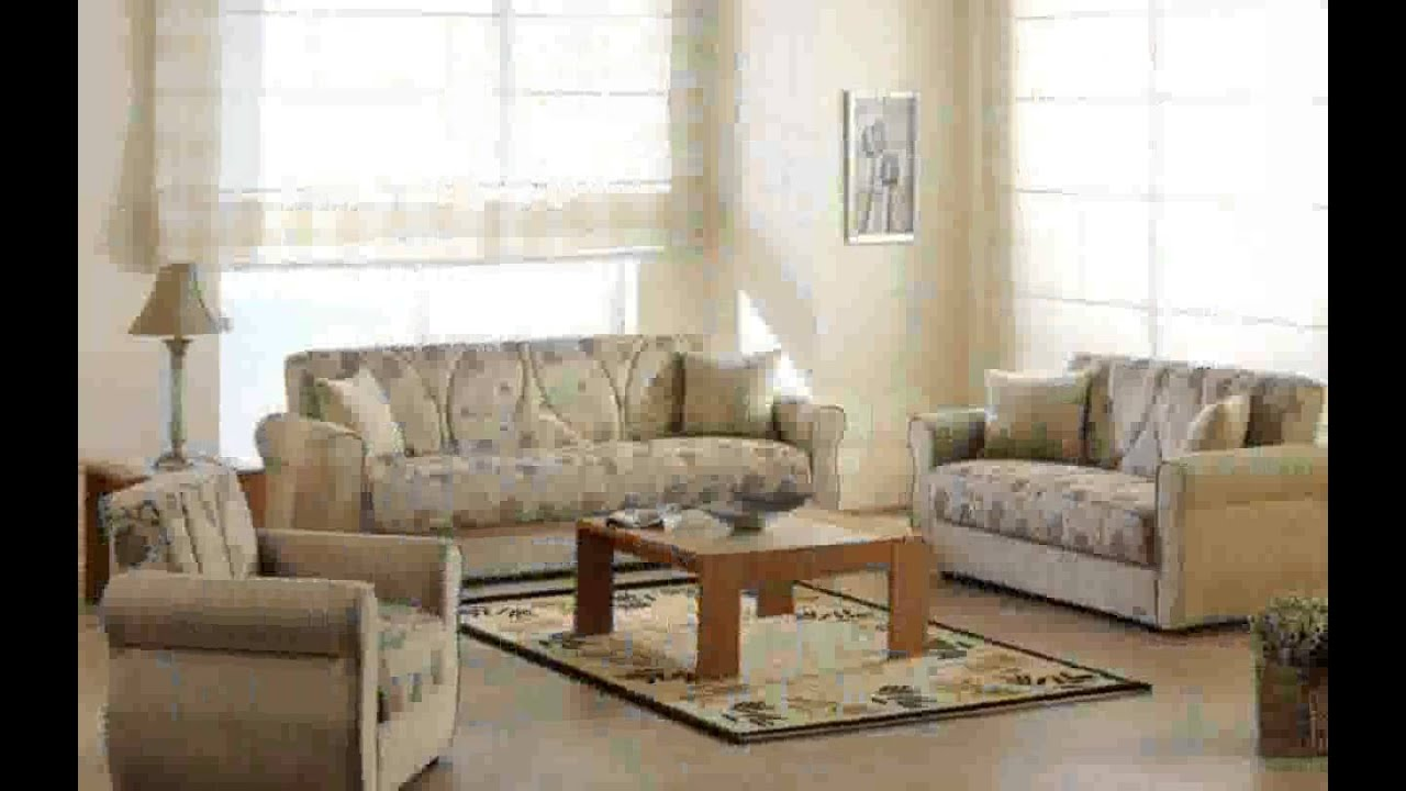 Beige sofa living room youtube for Rooms to go living room