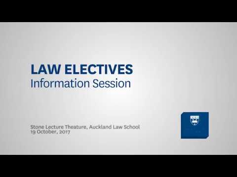 Auckland Law School 2018 electives