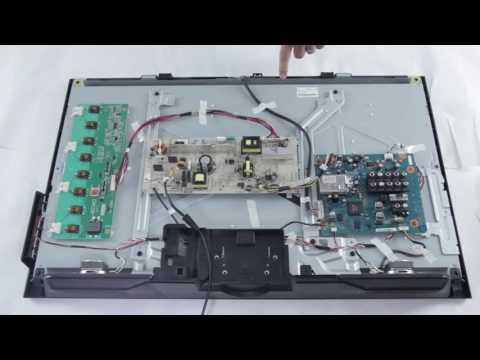 LCD TV Repair Tutorial T Con Board Common Symptoms & Solutions How to  Replace T Con Board