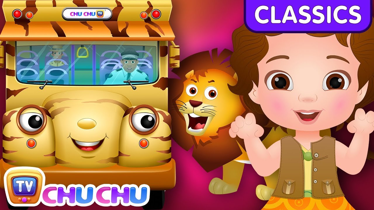 ChuChu TV Classics - Wheels On The Bus - Kenya Wildlife Safari | Nursery Rhymes and Kids Songs
