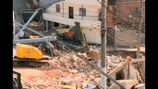 Continúa investigación para determinar causas de desplome de vivienda en el barrio Santander
