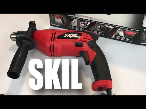 SKIL 6335-02 7.0 Amp 1/2 In. Chuck, Corded Drill unboxing (with assault-style vertical fore grip)