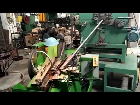 J shape hook bending & threading machine