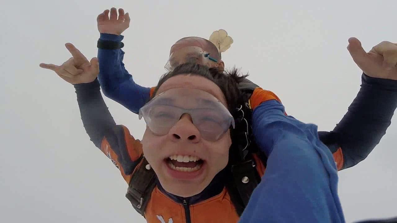 Salto de Paraquedas do Leonardo na Queda Livre Paraquedismo 22 01 2017