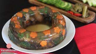 Vietnamese aspic meat jelly (Thịt đông) Instant Pot Recipe