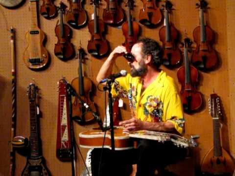 Bob Brozman talks at the Folk Music Store in Claremont, CA