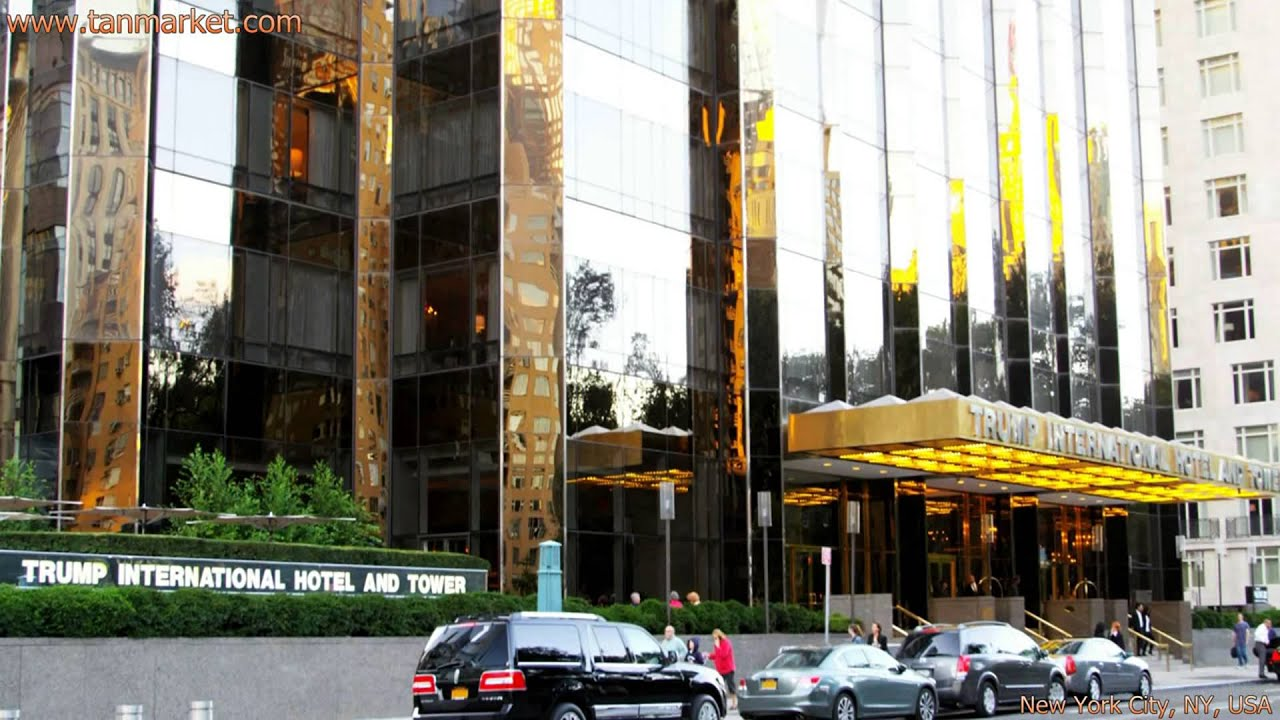 Trump Tower Entrance In New York City Collage Video Youtube