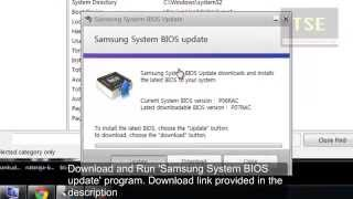 how to update BIOS Version in Samsung Laptop (Firmware - Flash ROM - MICOM)