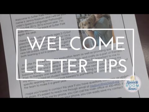 SLP 101: Welcome Letters