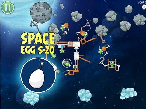 Angry Birds Space S-20 Beak Impact Bonus Level Walkthrough