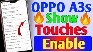 Oppo A3s Android phone|How to enable Show Touches in android phone?||Show Touches kaise enable kare?