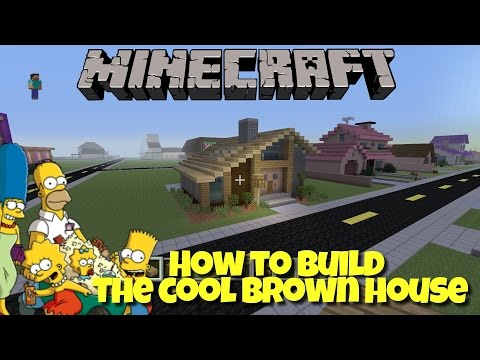 Minecraft Springfield Project - How To Build The Cool Brown House