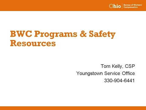BWC Programs and Safety Resources - OSC15