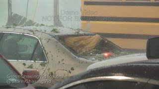 Bowie, TX  Massive Three Inch Hail Storm - 4/11/2016