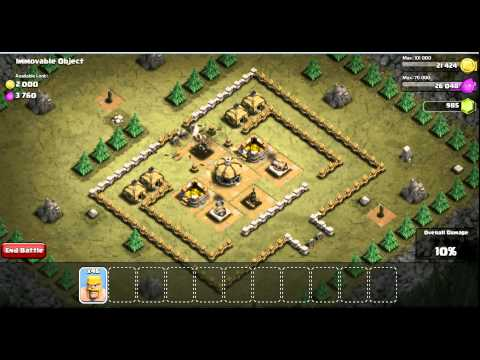 Clash of Clans Level 15 Immovable Object profit: 2500 elixir 4000 gold