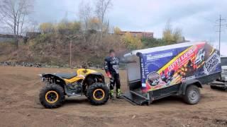 видео Тележка (телега) для квадроцикла (ATV)