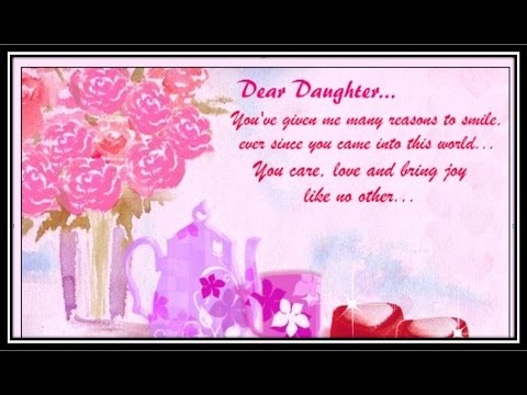 GREETING CARD: Special Message For Daughter