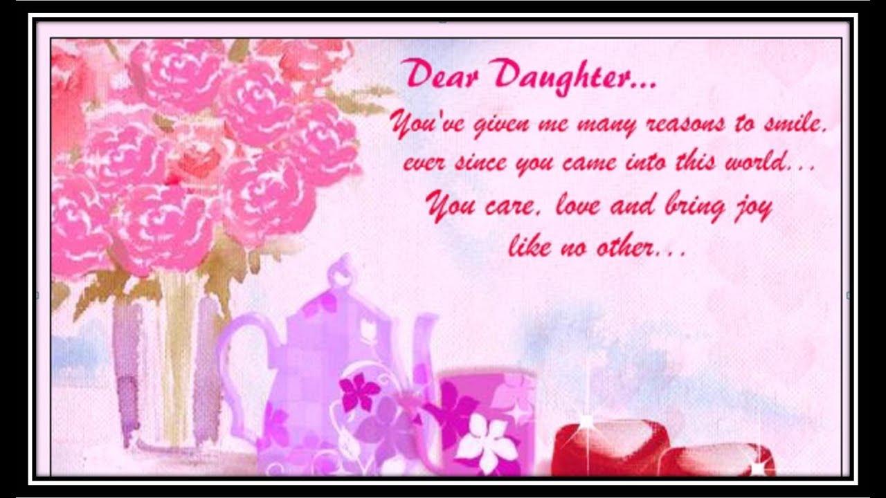 Greeting Card Special Message For Daughter Youtube