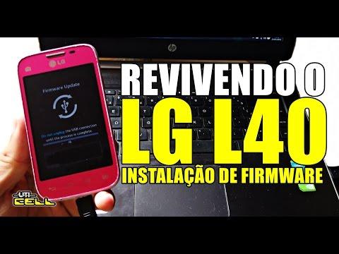 Recuperando o LG L40 (D175) brickado - Não liga - Logo da LG #UTICell