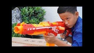 Đồ Chơi Cuộc Chiến Súng NERF Và Trò Chơi Bắn Bi: NERF WAR GAME MARBLES BATTLE TOYS HD