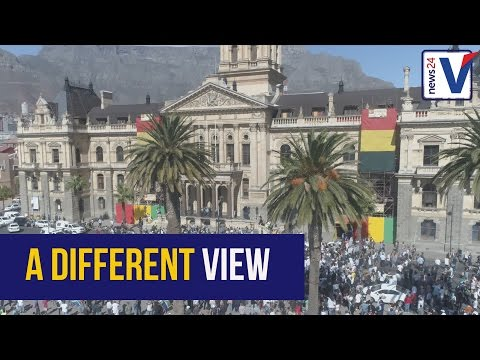 WATCH: Drone footage of Cape Town's #SAUnites protests