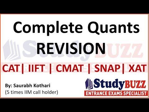 Complete quants revision for CAT, XAT, IIFT- Master all quant topics