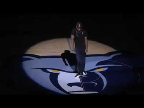 Playa Fly and Gangsta Black performs at Memphis Grizzlies game at  fedex forum