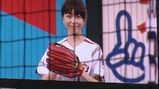 20120705  福田萌ちゃん始球式 @神宮