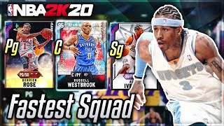 I used the FASTEST SQUAD possible in nba 2k20 myteam....