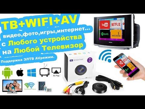 📲📺 AirPlay Chromecast Трансляция видео с телефона на ЛЮБОЙ ТВ + AV