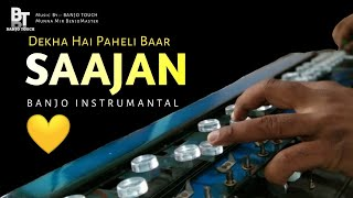 Dekha Hai Pehli Baar | Saajan | Banjo Cover | Instrumantal | Ringtone | 90's Best Romantic Song
