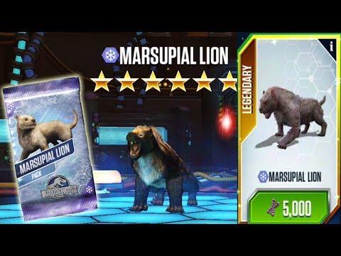 Marsupial Lion Max Level - Jurassic World The Game