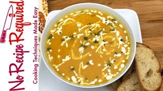 Butternut Squash Soup With Coconut & Curry - Noreciperequired.com