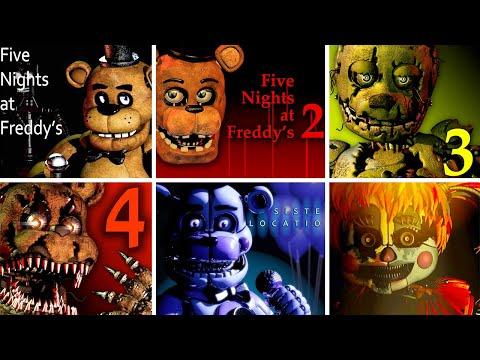Five Nights at Freddys 1 2 3 4 SL FFPS & UCN FNaF Jumpscare Simulator