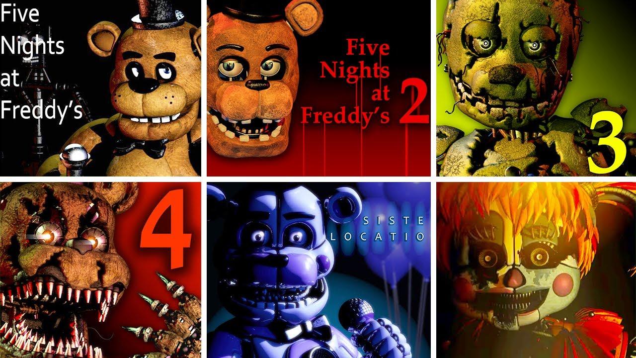 Five Nights at Freddy's 1 2 3 4 SL FFPS & UCN FNaF Jumpscare Simulator
