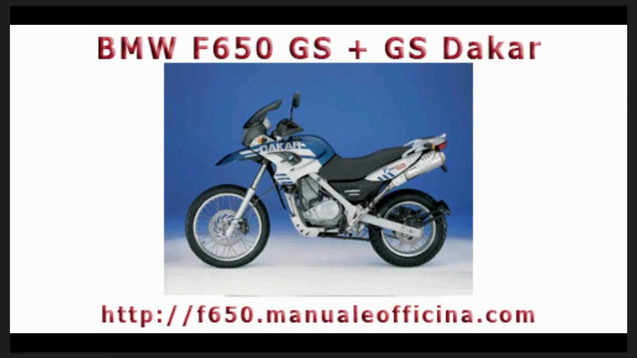 Bmw F650 Gs Manuale Officina In Italiano Youtube