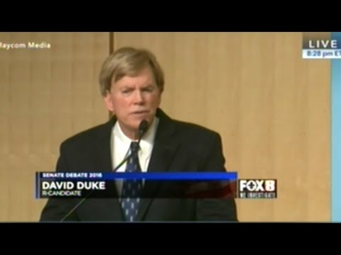"Louisiana Senate Debate STARING! ""Imperial Grand Wizard Of The Ku Klux Klan"" David Duke"
