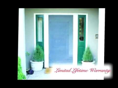 Mirage Retractable Screen Doors By A to Z Window Screens - YouTube
