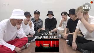 [Sub español] [BANGTAN BOMB] BTS 'IDOL' MV reaction